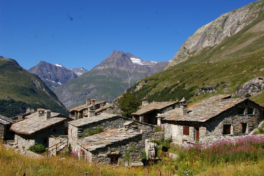 Le magnifique village de Bonneval sur Arc