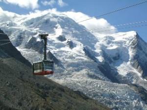 Le célébère site l'Aiguille de Chamonix