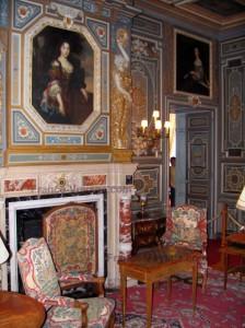La décoration du salon du château de Cheverny
