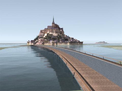 La monsatère Mont Saint Michel