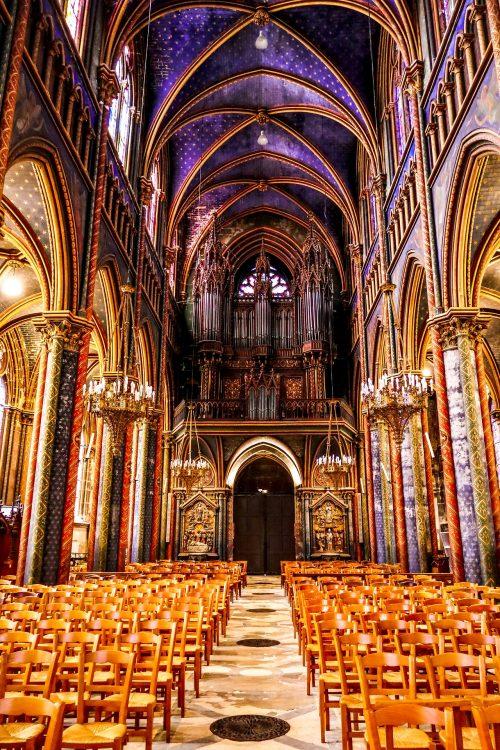 La nef de la cathédrale de Rouen